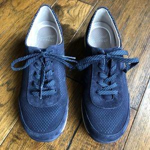 Dansko Navy Blue lace up tennis shoes/sneakers